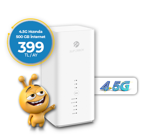Superbox 4.5G Fiber Hızında 500GB İnternet